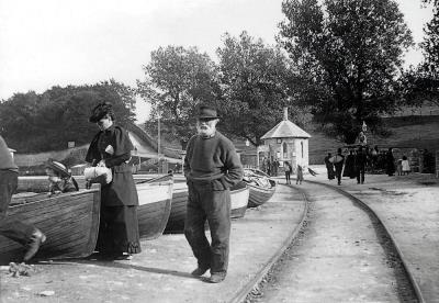 Pier Tramway Swanage c1895 Swanage Museum Collection