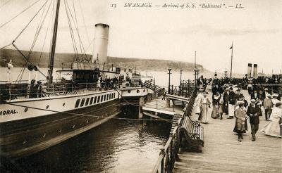 Paddle Steamer Balmoral at the Pier 1906 (David Haysom Collection)
